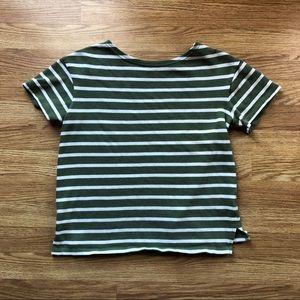 Old navy green striped shirt